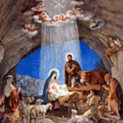 Shepherds Field Nativity Painting Poster by Munir Alawi