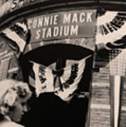 Shibe Park - Connie Mack Stadium Poster by Bill Cannon