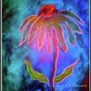 Shimmering Floral Poster