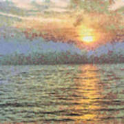 Shimmering Light Over The Water Poster