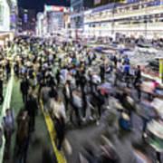Shinjuku People Rush Poster