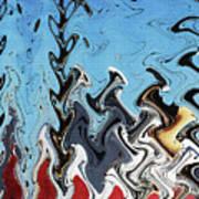 Ship At The Mooring Abstract Poster