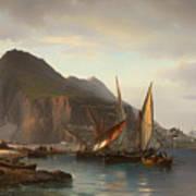 Shipping Off Gibraltar Poster