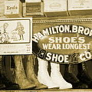 Shoe Shopping In The 30's Poster