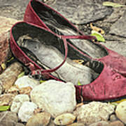 Shoes At The Makeshift Memorial Poster