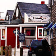 Shopping In Perkins Cove Maine Poster