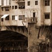 Shops On The Ponte Vecchio Poster