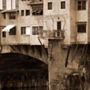 Shops On The Ponte Vecchio Poster