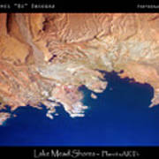 Shores Of Lake Mead Planet Art Poster