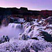 Shoshone Falls In Winter Poster