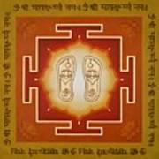 Shri Maha Lakshmi Paduka Poster