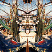 Shrimp Boat Abstract Poster