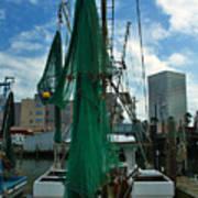 Shrimp Boat Back Poster