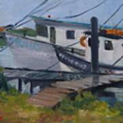 Shrimpboat Docks At St. Augustine Port Poster