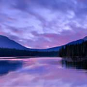 Shunda Lake At Dawn Poster