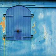 Shuttered Blue Poster