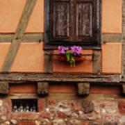 Shutters And Window Box In Kaysersberg Poster