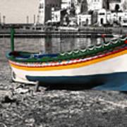 Sicily Fishing Village Poster