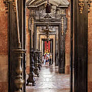 Side Aisle Of The Basilica Of The Mafra Poster