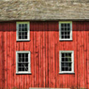 Side Of Barn And Windows At Old World Wisconsin Poster