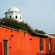 Side Street Homes Antiqua Guatemala Poster