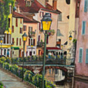 Side Streets In Annecy Poster
