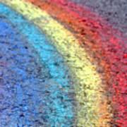 Sidewalk Rainbow  Poster