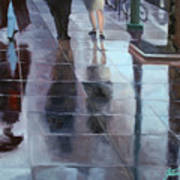 Sidewalk Reflections Poster