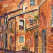 Siena Alley Poster