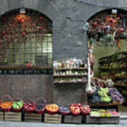 Siena Italy Fruit Shop Poster