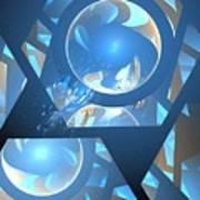 Sienna Blue Honeycomb Poster
