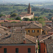 Sienna Rooftops Poster