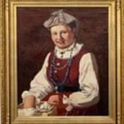 Sigfrid August Keinanen, Woman Standing. Poster