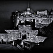 Sights In Scotland - Castle Bagpiper Poster