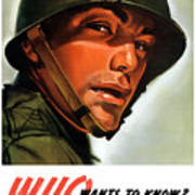 Who Wants To Know - Silence Means Security Poster