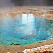 Silex Spring Fountain Paint Pot Yellowstone National Park Wy Poster