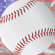 Silk Stars And Stripes Baseball Poster