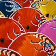 Silk Umbrella Factory Poster