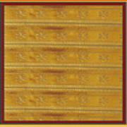 Silken Gold Border Stripes With Jewel Imprint Elegant Border Energy Healing Art By Navinjoshi Finear Poster