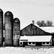 Silos And Barn Poster
