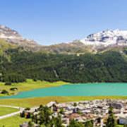 Silvaplana In Canton Graubunden, Switzerland Poster