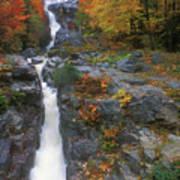 Silver Cascade In Autumn Poster