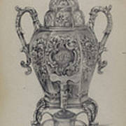 Silver Hot Water Urn Poster