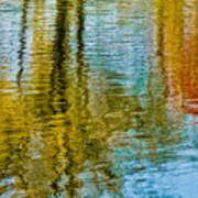 Silver Lake Autum Tree Reflections Poster