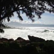 Hawaiian Silver Ocean Poster