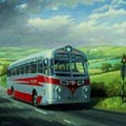 Silver Star Leyland Coach Poster