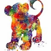 Simba The Lion King Watercolor Art  Poster