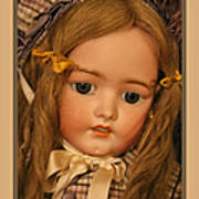 Simon And Halbig Antique Doll Poster