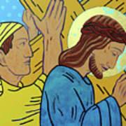 Simon Helps Jesus Poster