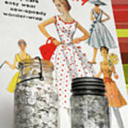 Simplicity Vintage Sewing Pattern - Color Poster